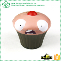 Lovely cartoon design printed promotion stress ball PU kids foam toy