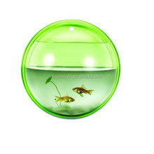 Home Decoration Hot Sale Beauty Acrylic Wall Mount Round Fish Tank