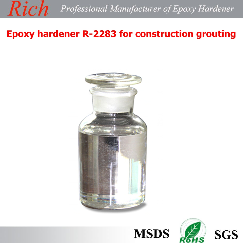 Solvent free epoxy hardener R-2283 for construction grouting with low viscosity,high hardness