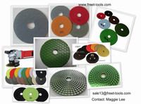 flexible strong style color polishing pads for stone grinding