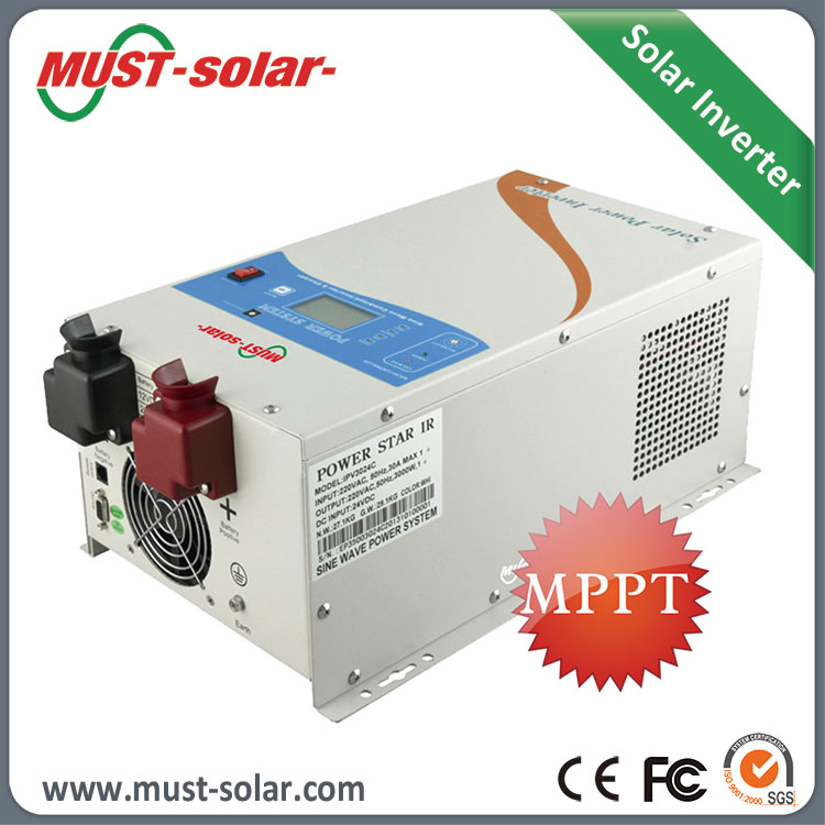 2015 HOT! Solar Grid Inverter 12v 220v 5000w with Built-in 60A MPPT Solar Charge Controller