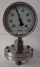 press switch Thread type manometer Diaphragm pressure gauge with ISO&CE certicate