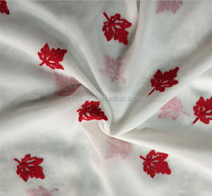 Garments fabric supplier embroidery designs 600d Woven polyester satin fabric price per meter for sale