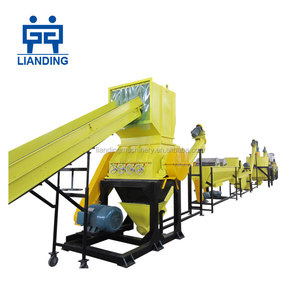 Complete plastic pet bottle washing recycling equipments and production line factory