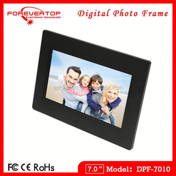 2016 factory low price 7 inch heap Battery Operated Digital Photo Frame
