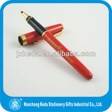 Red surface name brand fancy pen with logo printing