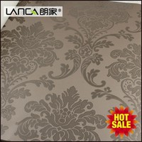 good customized european style damask plain colour wallpaper