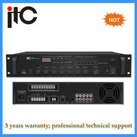 Paging system professional 5 zone usb stereo mixer amplifier