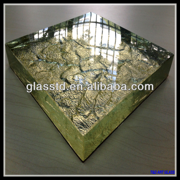 40mm unique glass gold glass coffee table