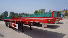 3 Axle Flatbed 20Ft 40Ft Flatbed Container Semi Truck Trailer