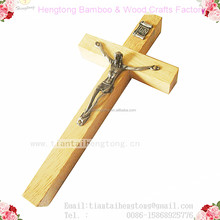 15.2cm wood cross jesus rosary cross wood crucifix catholic cross