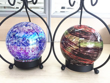 Wholesale glass gazing ball for home decoration, glass gazing ball with shelf
