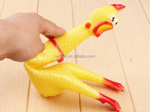 Squeaky Custom Rubber Chicken Toy for Children Over 3