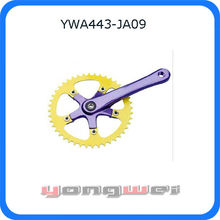 fixed gear bike chain wheel and crank, crank set