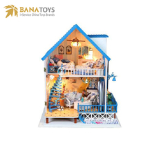 DIY doll house wooden with light