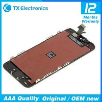 Original lcd for iphone 5 lcd display with digitizer touch panel screen assembly replacement