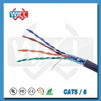 Standard high quality 24awg cat5e utp cable 4p with UL RoHS