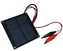5v 0.5w epoxy encapsulation mini solar panel with alligator clips