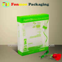 Transparent boxes plastic food packaging