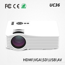Shenzhen wholesale UC36 HD home theater led projector hd mini led projector 3d 1080p