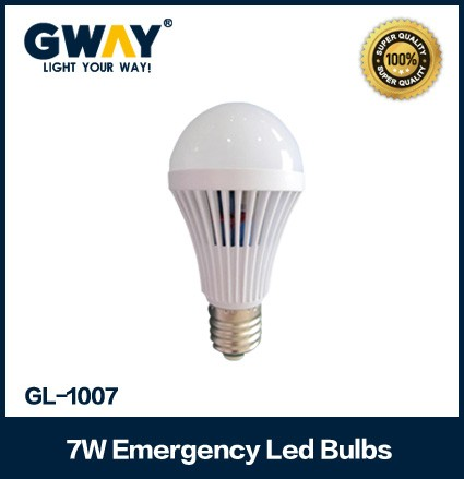 CCT6000-6500K rechargeable led emergency bulb 7W