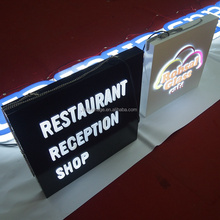 Outdoor chain store name 3D Led lighted box letters signs