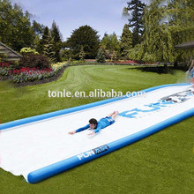 50ft giant slip and slide/ long inflatable Huge lawn water slide for sale