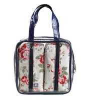Multi-functional gift cosmetic or travel pvc bag set