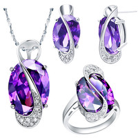 925 sterling silver women jewelry set