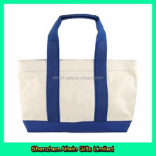 10oz plain canvas tote bag with handle and shoulder strap