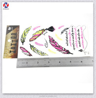 Best Colourful Promotion Leaf And Ink Design Waterproof Non-toxic Kids Body Tattoos Sticker