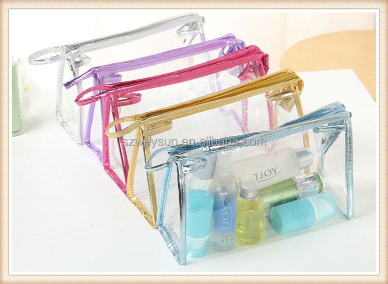 PVC Women Makeup Cosmetic Bag Waterproof Transparent Make Up Organizer Storage Wash Clear For Travel