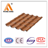 Imitation clay Chinese plastic roof tiles