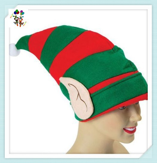Christmas Party Santa Helper Fancy Dress Red and Green Elf Hats HPC-1041