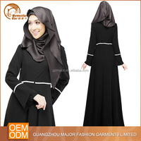 Fashion wholesale modern latest designs dubai simple black abaya 2015 for woman