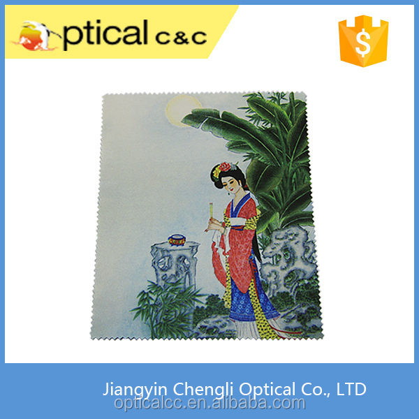 personalized microfiber digital printed glasses cleaning cloth