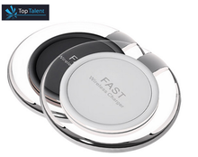 Ultra-thin wireless charging pad Qi certified fast wireless charger for Samsung Note5