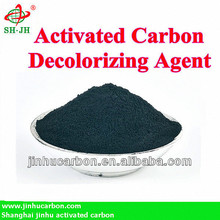 Activated carbon as decolorizing agent for sucrose