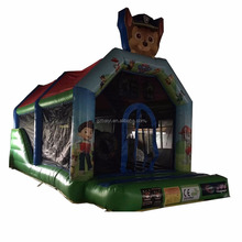 Colorful children inflatable combo bouncer and slide small castle inflatable trampoline for sale