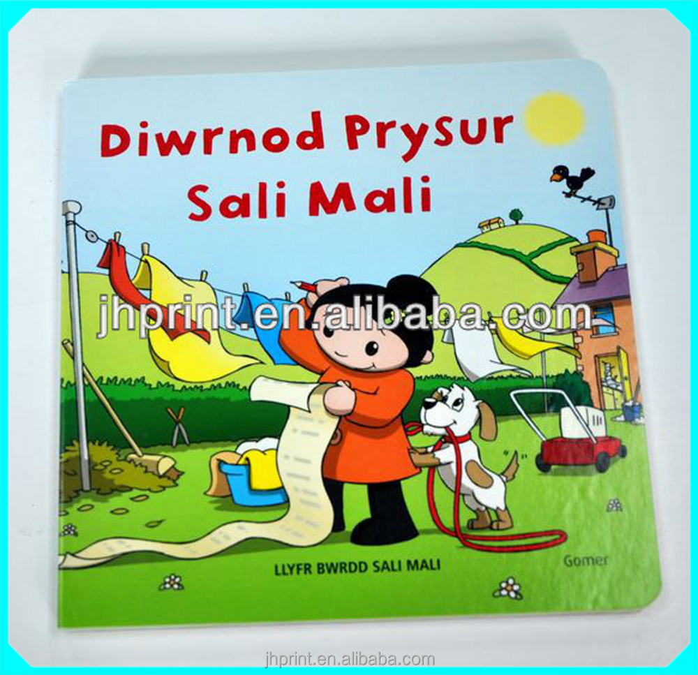 Book Product with UV,Varnishing Surface Finishing print on thick cardboard for children