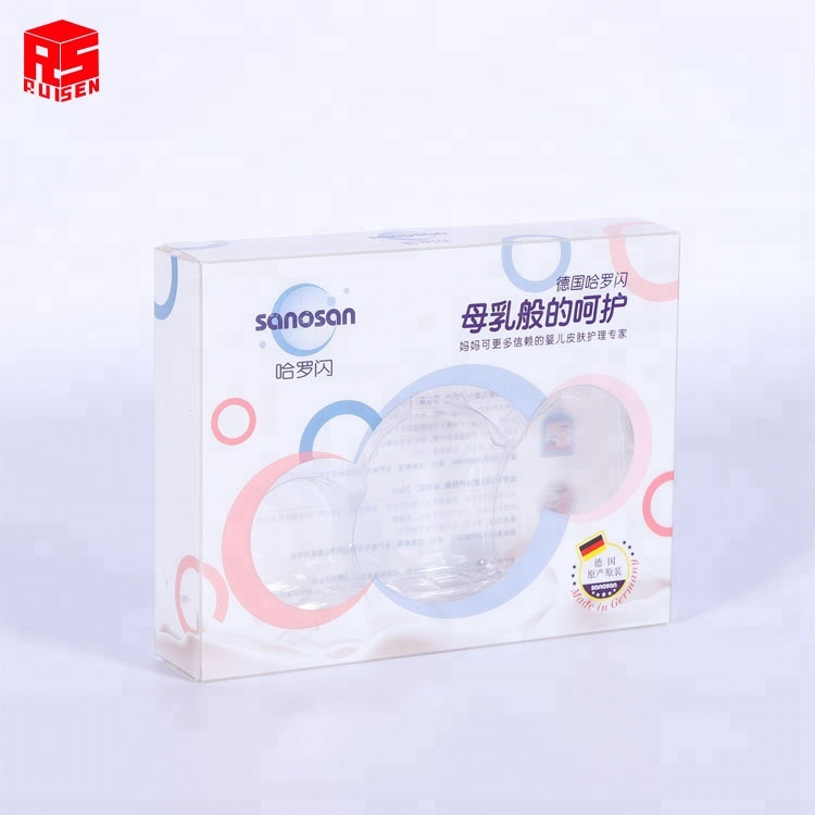 Soft crease folding PET blister Packing <strong>Box</strong> for baby skin care cream