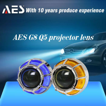 AES-G8 Factory Hot Sale Auto Headlight HID Kit Bixenon Projector Lens with angel eye for H4,H7,9005,9006
