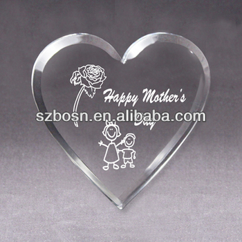 Transparent Acrylic Keepsake Acrylic Souvenir Acrylic Paper weight heart gift