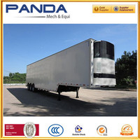 2016 New Ranking Panda 3 Axle 45T Refrigerated Cargo Trailer , Refrigerator Trailer For Heavy Duty