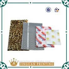 Customized coloful clothing packaging wrapping tissue paper with company logo