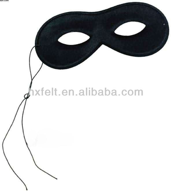 ECO felt bandit eye mask for Halloween
