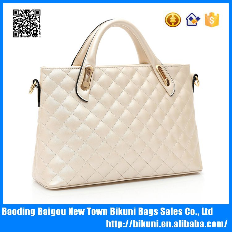 Hot sale elegant modern diamond-shaped style PU lady bags tote bag women handbag with high quality
