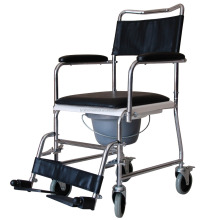 china supplier human disabled folding toilet commode wheel chair for elderly