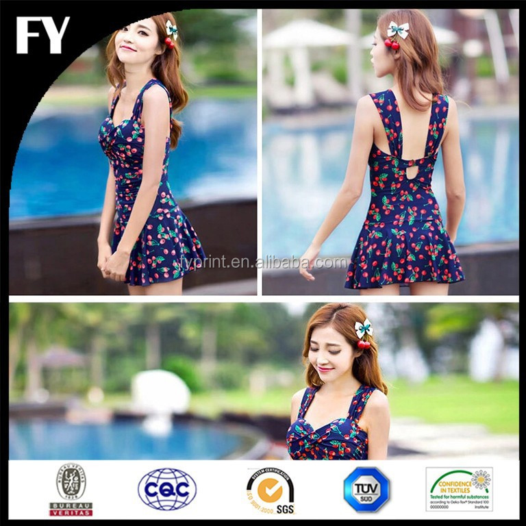 Factory digital floral prints nylon spandex swimwear fabric