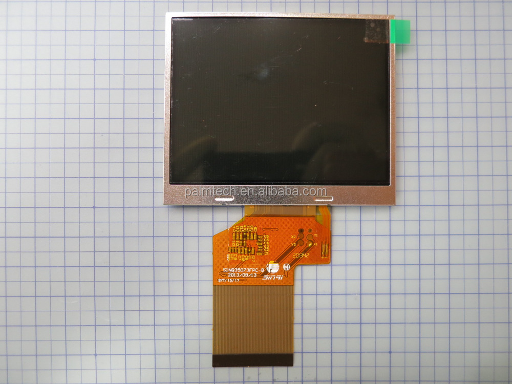 "PT0353224-E201 TFT 3.5"" Landscape Color QVGA 320x240 dots with or without touch screen LCD display"